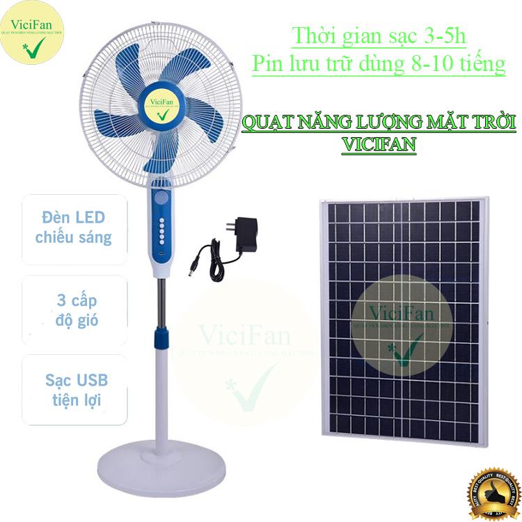 quạt năng lượng mặt trời vici